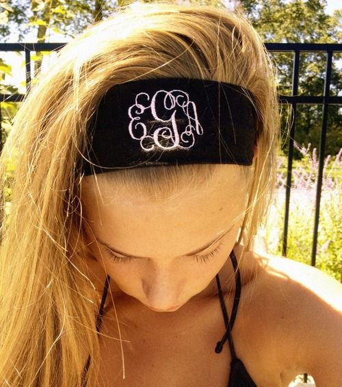 3 of my favorite things~ Headbands, Monograms, and SUMMER!