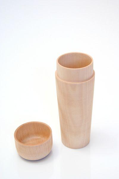 ++ japanese wood tea canister