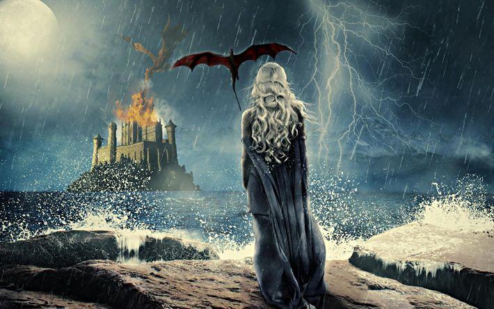 Descargar fondos de pantalla 4k, Khaleesi de 2017, película, Juego De Tronos