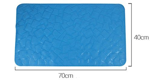 Fashion Anti Slip Suction Bath Mat  Non Slip Mats for Tub  Shower Bathroom Safety  Natural Rubber  70 x 40cm  Ideal for Homes Hotels Gyms  LongTerm Care Facilities Blue ** Want additional info? Click on the image.