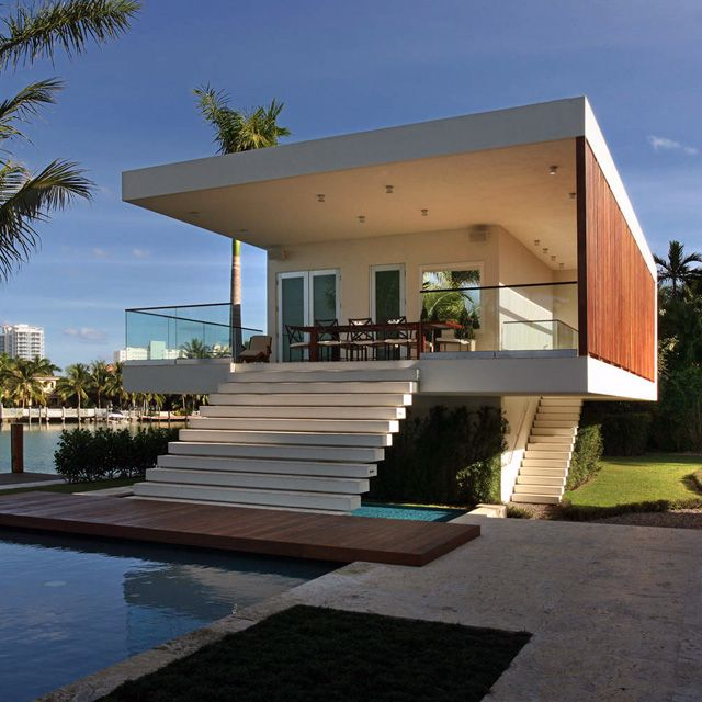 pool house la gorce island miami beach fl by touzet studiomy idea of a beach house - Beach Home Design
