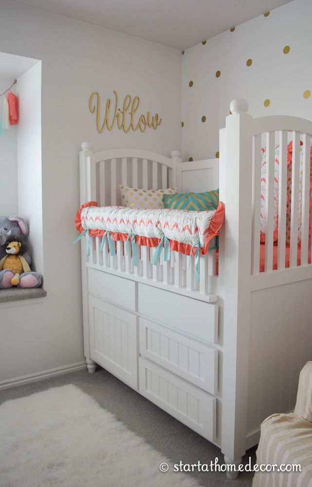 C And Teal Nursery With A Custom Made Name Cutout By Start At Home Decor