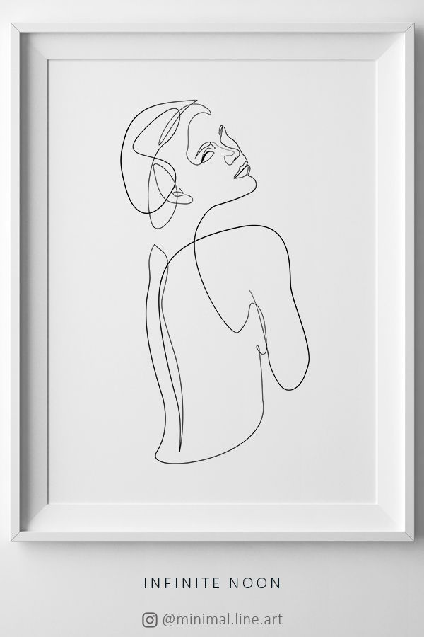 Continuous Line Body Drawing Line Art Print One Line Woman Body