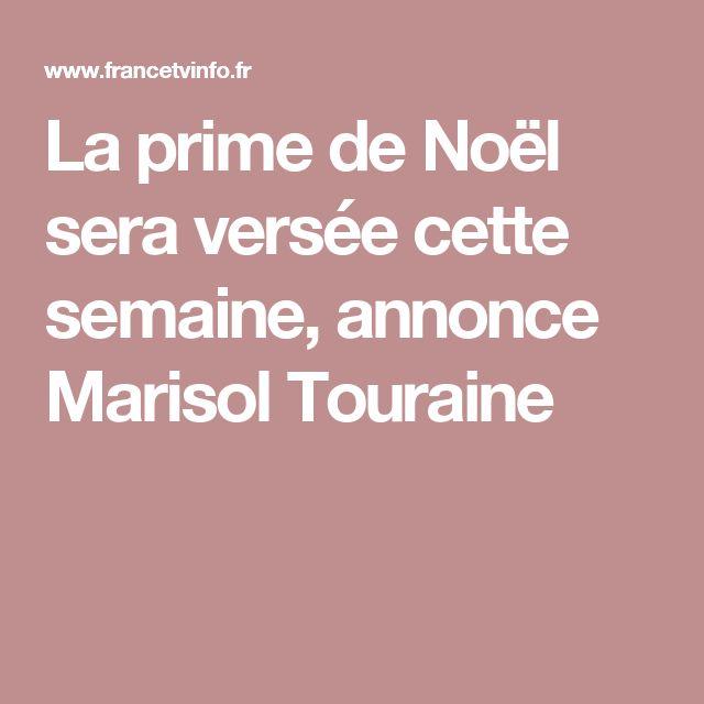 La prime de Noël sera versée cette semaine, annonce Marisol Touraine