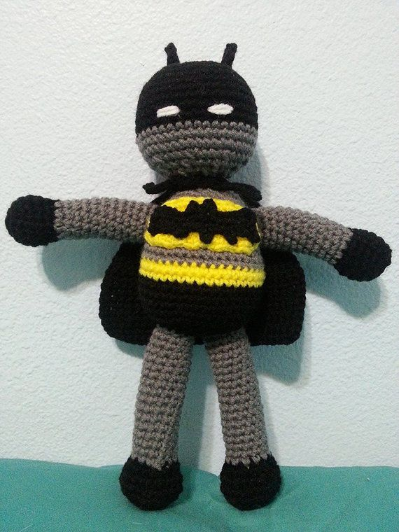 Crocheted Superhero Batman Amigurumi Doll by ShannonLynCreations