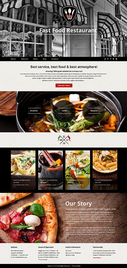Template 51109 - Fast Food  Responsive Website Template