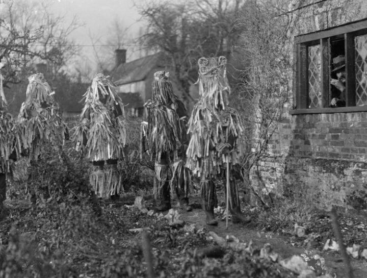 The English countryside as it once was. Overton Mummers 1920s