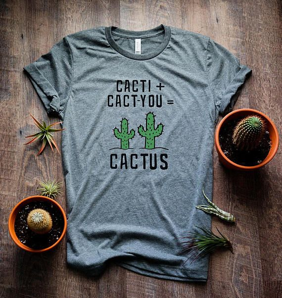 Cactus Shirt. Printed on a high-quality, super soft unisex tee. Our tees are lightweight, breathable, and fashionable. Our shirts have a comfortable, casual fit that is flattering and easy to wear. All our shirts are made to order and printed direct to garment for great quality that