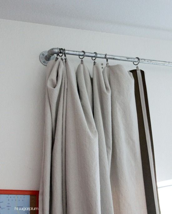 1000 Ideas About Pipe Curtain Rods On Pinterest Industrial Design Industrial Curtain Rod And