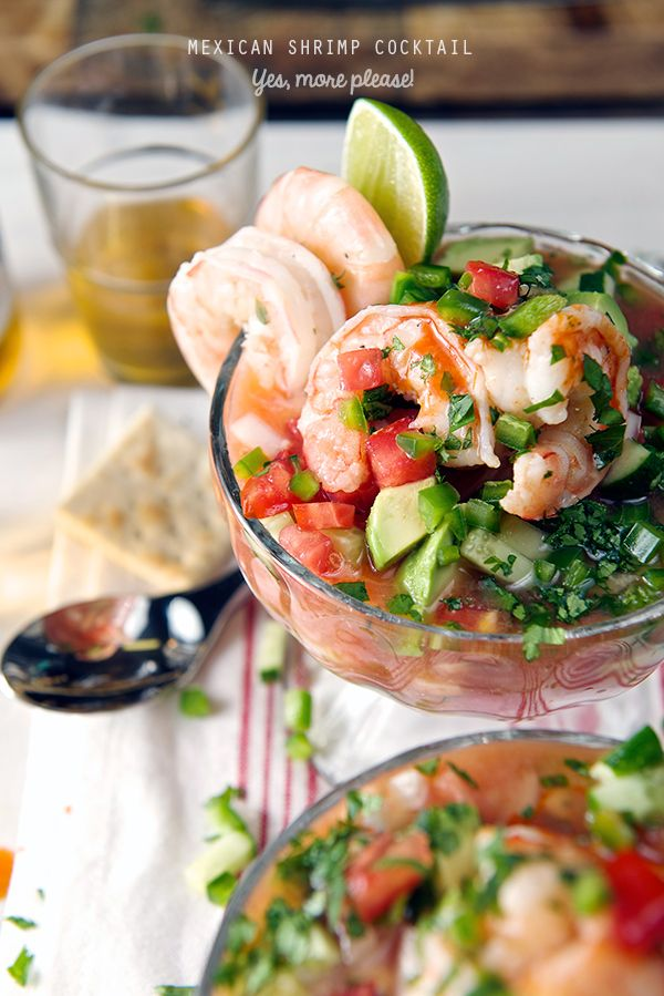 Mexican Shrimp cocktail, easy, light, and scrumptious! just war you need this summer!