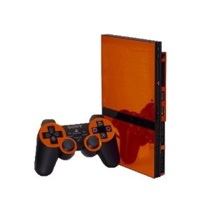 PlayStation 2 Slim (PS2 Slim) Skin - NEW - ORANGE CHROME MIRROR system skins faceplate decal mod. Cover up your Sony PlayStation 2 Slim (PS2 Slim) with a custom vinyl skin accessory kit. Our Sony PlayStation 2 Slim (PS2 Slim) skins are made from high quality vinyl that will protect your console from scratching and elements while giving you a look that is 2nd to none. The perfect compliment to an already amazing system. Impress your friends and watch them be envious of your Sony PlayStation 2…