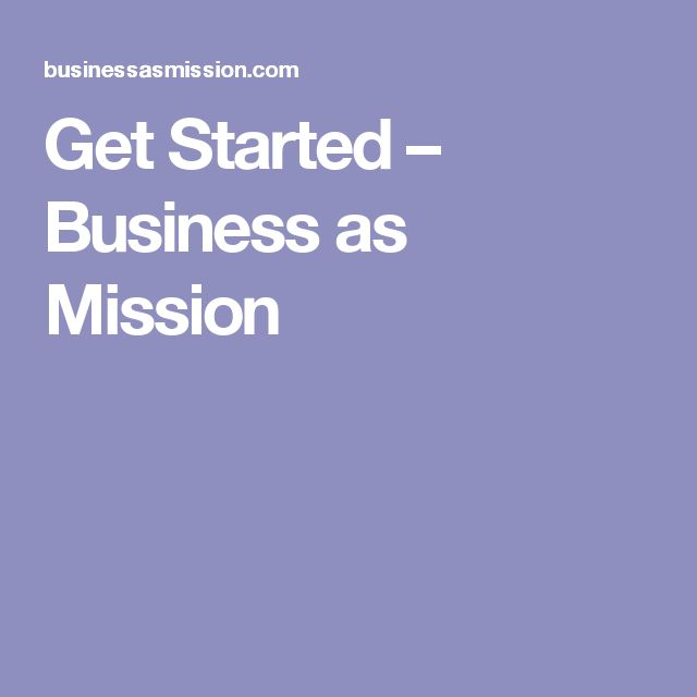 Get Started – Business as Mission