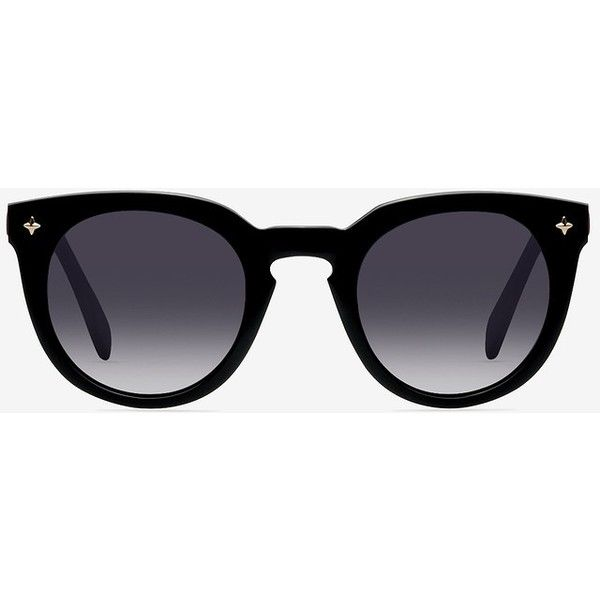 Women's Zoe - Black round plastic - 13143 Plastic Rx Sunglasses (€49) ❤ liked on Polyvore featuring accessories, eyewear and sunglasses