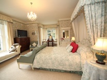 Glangrwyney Court, Wales.    VERY floral but such a lovely place to stay