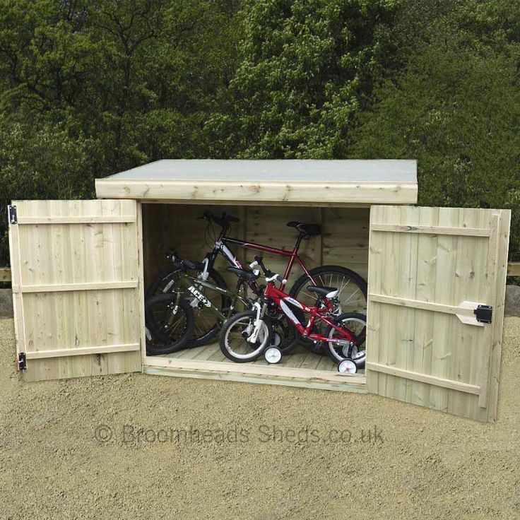 Quality pent store shed made from 16mm tanalised timber in standard sizes or made to measure. Great Store shed for bikes, mowers, garden tools. 4ft 6in high #bikeshed #gardenshed #pentstore