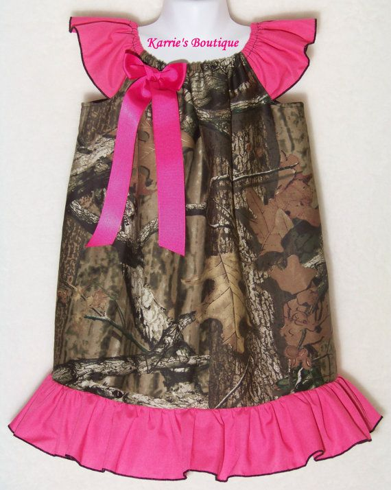 Camo Ruffle Dress / Pink / Beautiful / Mossy Oak Camo / Flower Girl / Wedding / Newborn / Infant / Baby / Girl / Toddler / Boutique Clothing