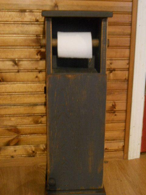 Primitive Farmhouse toilet paper holder by PorchSittinPrimitive, $44.99