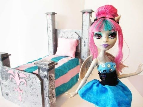 How To Make A Rochelle Goyle Doll Bed Tutorial/Monster High. Unfortunately. I have to say again that I made a bedroom set for Rochelle too. So this is for you ghouls and guys looking for ways or ideas to make a Rochelle bed. Good luck. The blonde in the pic.
