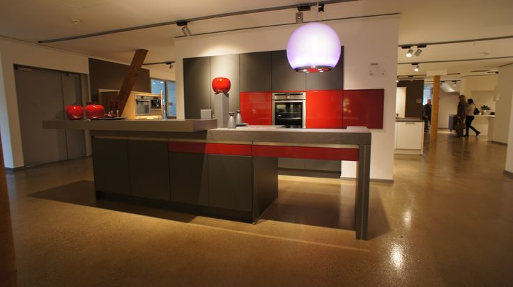 Best High Gloss Bright Red And Dark Grey Matt Kitchen By Burger 400 x 300