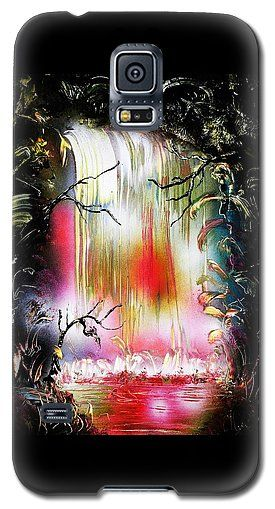 Dream Waterfall Galaxy S5 Case Printed with Fine Art spray painting image Dream Waterfall by Nandor Molnar (When you visit the Shop, change the orientation, background color and image size as you wish)