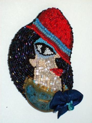 """Brooch """"Portrait of a Woman"""" № 4"""