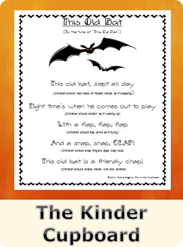 bat song visit the kinder cupboard blogspot for your free download halloween songspreschool - Halloween Songs For Preschoolers