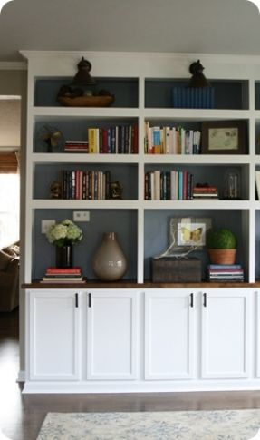 Best DIY Builtins Images On Pinterest Home Built Ins And - Diy built in bookshelves