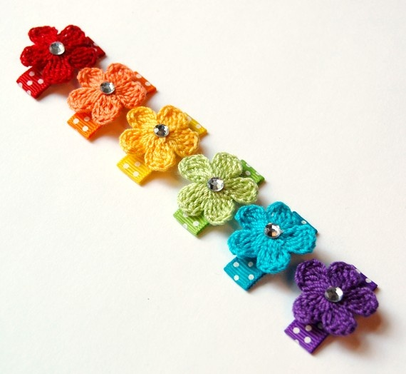 ideas about Crochet Hair Clips on Pinterest Hair Clips, Crochet Hair ...