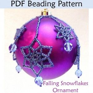 Beaded Snowflake Holiday Ornament Beading Pattern