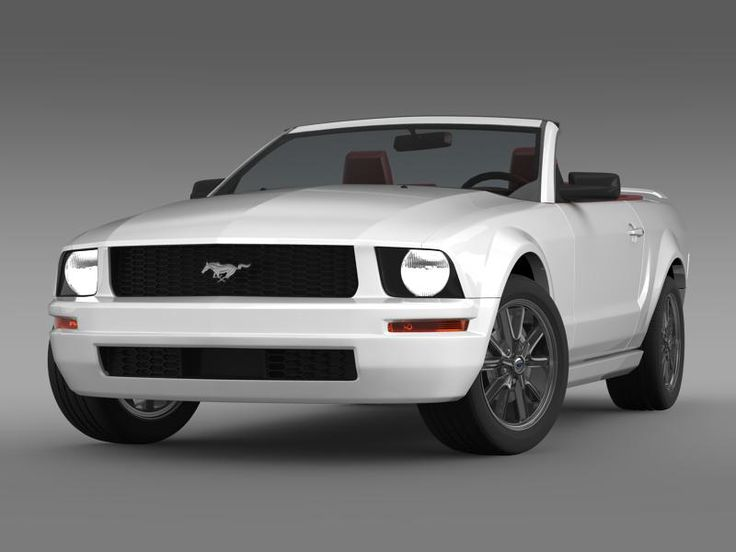 Ford Mustang Convertible 2005 3D Model- Let me represent you high poly 3d model of Ford Mustang Convertible 2005 (The Ford Mustang is an automobile manufactured by the Ford Motor Company. The Ford Mustang is one of the ten cars have changed the world by Forbes magazine as the most popular Muscle car.) with high detail.    The model is created in real size. This model is created in Autodesc Maya 2012, visualization (rendering) - Mental Ray. If necessary, the product is easy to change or…