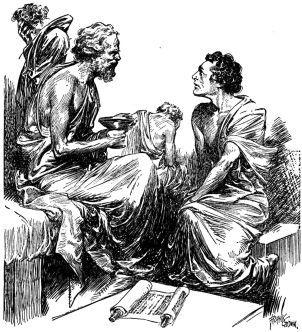 DIALÉCTICA SOCRÁTICA: Es una forma de búsqueda de verdad filosofal. Típicamente concierne a dos interlocutores en cada turno, con uno liderando la discusión y el otro asintiendo o concordando a ciertas conjeturas que se le muestran para su aceptación o rechazo. Este método se le acredita a Sócrates, quien empezó a enzarzarse en dichos debates con sus compañeros atenienses después de una visita al oráculo de Delfos.
