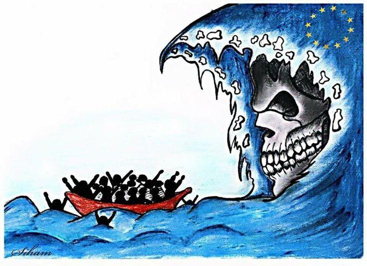 Siham Zebiri – Specter de L'Immigration Clandestine Africa Cartoons