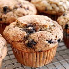 100% Whole Wheat Blueberry Muffins from KAF - I used 100% WW flour and halved the sugar.  These are terrific!