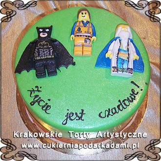 079. Lego tort z Batmanem Emmet. Lego cake with Batman.