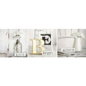 Arthouse Be Happy Neutral Canvas Art Set (W)20cm (H)20cm Be Happy Neutral Canvas Art Set (W)20cm (H)20cm.This modern still life canvas set of 3 is ideal for all rooms. Metal hanger is supplied with this product. (Barcode EAN=5050192136778) http://www.MightGet.com/april-2017-1/arthouse-be-happy-neutral-canvas-art-set-w-20cm-h-20cm.asp
