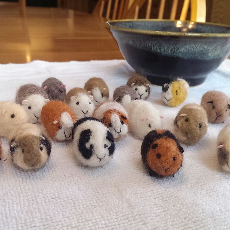 Guinea Pig Needle Felted Pocket Pet Miniature Birthday Valentines Day…