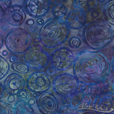 Northwoods 4 Artisan Batiks  - Starry Night Tree Circles
