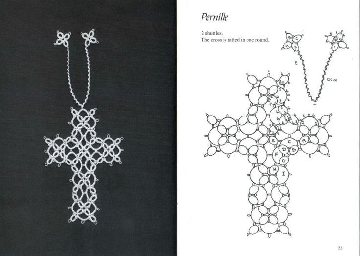 Gallery.ru / Photo # 7 - Tatted Bookmarks ~ en forme de croix - Mula
