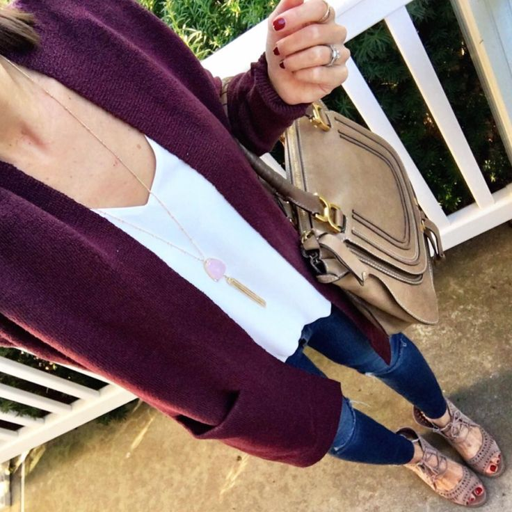 IG @mrscasual <click through to shop this outfit> BP burgundy Cardigan