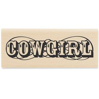 Stampabilities Cowgirl Rubber Stamp | Shop Hobby Lobby