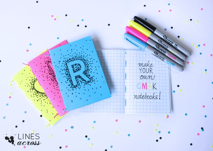 Make Your Own Mini Notebooks - Lines Across