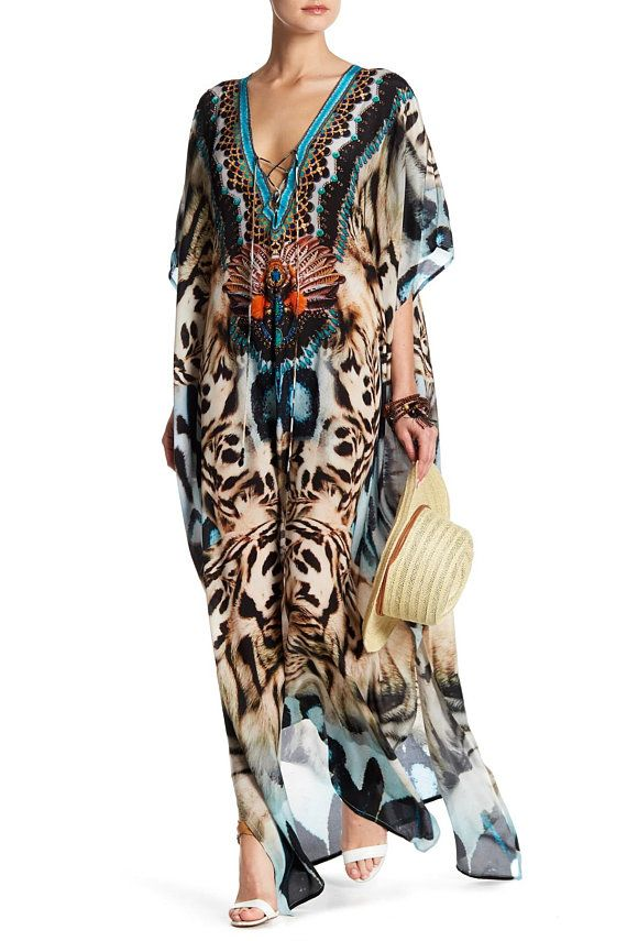 7551cb611c Animal Print Kaftan, Leopard Print Kaftan, Snake Print Kaftan, Kaftans,  Long Kaftan Dress, Kaftan Dresses, Silk Kaftan Dress, Beach Kaftans