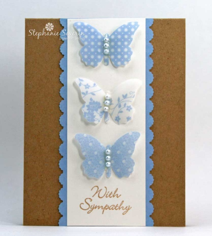 Nice Card Making Ideas Using Vellum Part - 1: Vellum Butterflies. Parchment CraftSympathy CardsGreeting ...