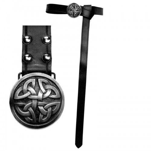 Andracor Leather Viking Belt - Black