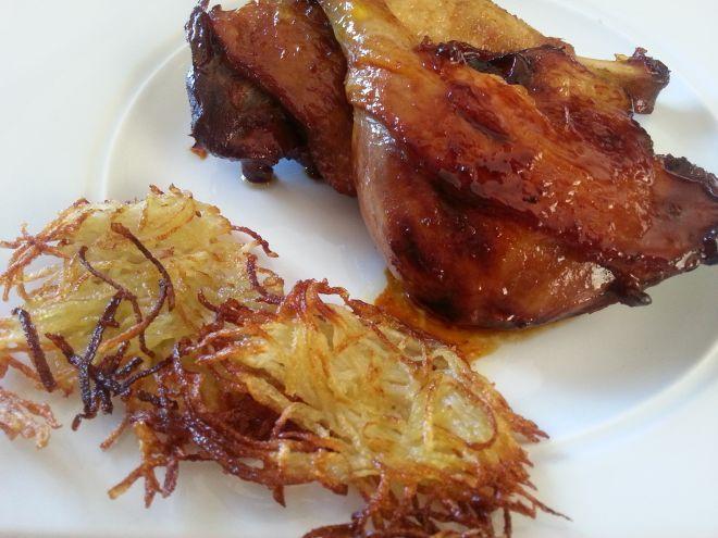 Cuisses de canard au miel et soja