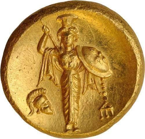 Canal~Art « Athéna en armes » Pièce en or de Pergame (Asie