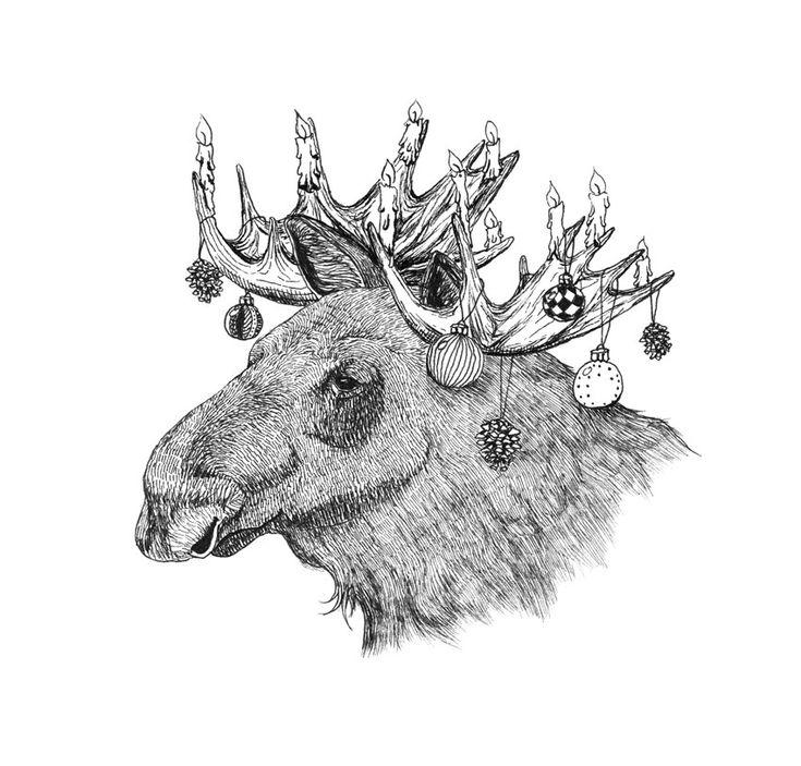 Christmas Elk, by Mia Olofsson.