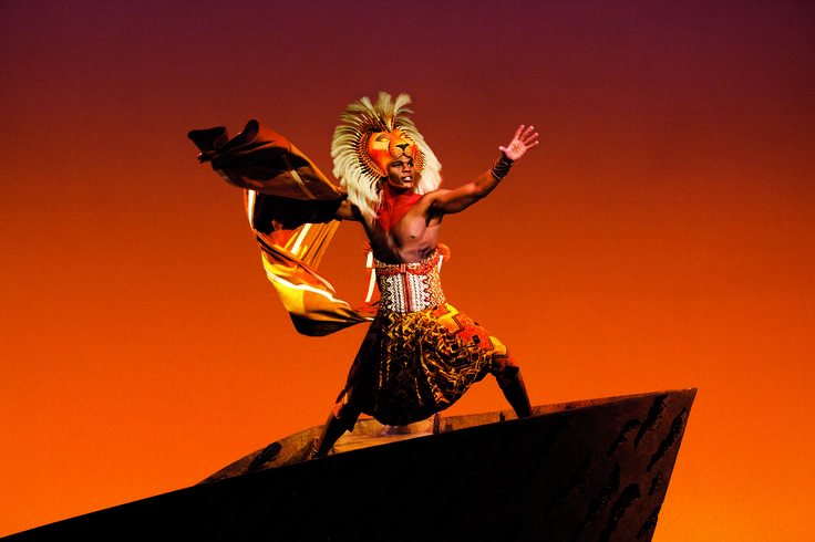 Simba : The Lion King production shot.