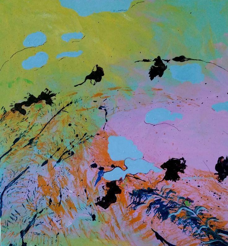 """fruit bats"" by Debra Dougherty. Paintings for Sale. Bluethumb - Online Art Gallery"