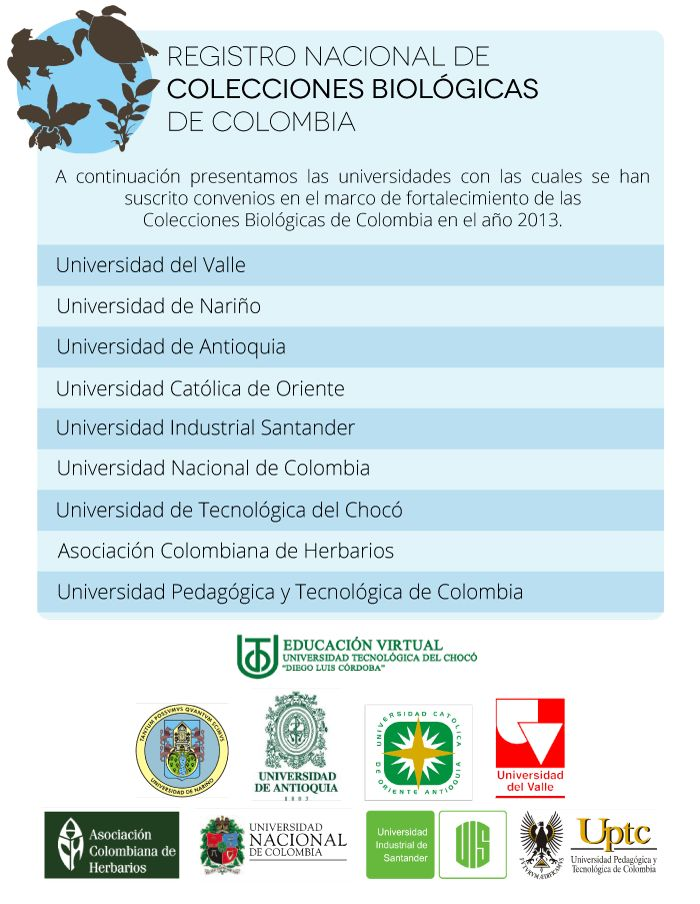 Primeros convenios con universidades para el fortalecimiento de Colecciones Biológicas de Colombia 2013